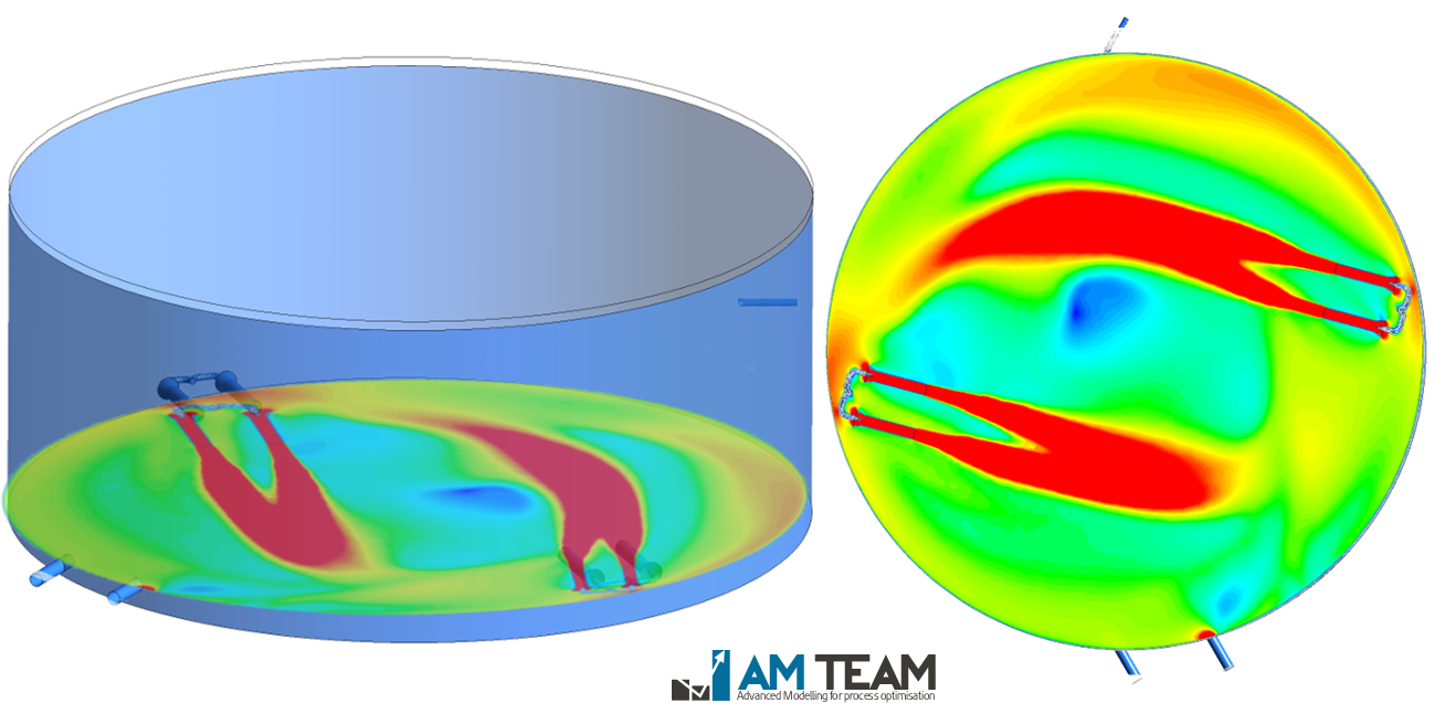 Pure oxygen aeration simulation with CFD