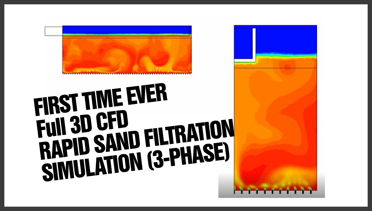 Sand filtration simulation using computational fluid dynamics